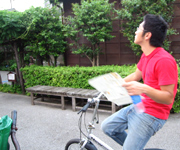 自転車があると重宝。歩くにはエリアが広いし、坂道が多くて疲れてしまうかもしれません。