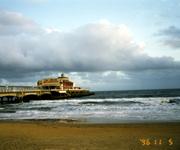 ボーンマスの海。夏はリゾート客でとても賑わうとのこと。