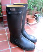今度はAIGLEの長靴を買いました。長靴にしては高価なものですが、履きやすくてデザインもかっこいいので気に入っています。