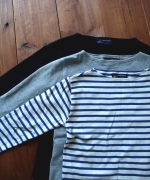 セントジェームスのTシャツ。夏は半袖も愛用してます。