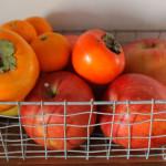 さすがに柿はまるかじりしません。