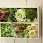 ご要望を受けて作成した造花のフラワーボックス。