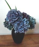 アンティークな色合いが美しい紫陽花が旬です。今一番お勧めの花です。